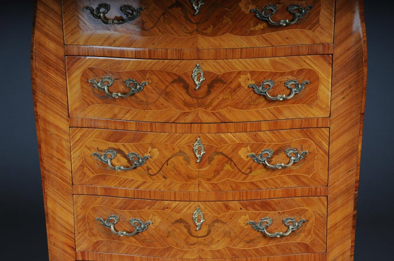 French 20th Century Beautiful High Chest of Drawers / Chiffoniere in Louis XV For Sale