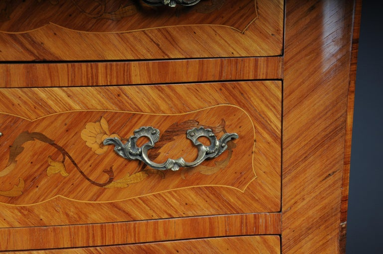 Marquetry 20th Century Beautiful High Chest of Drawers / Chiffoniere in Louis XV For Sale