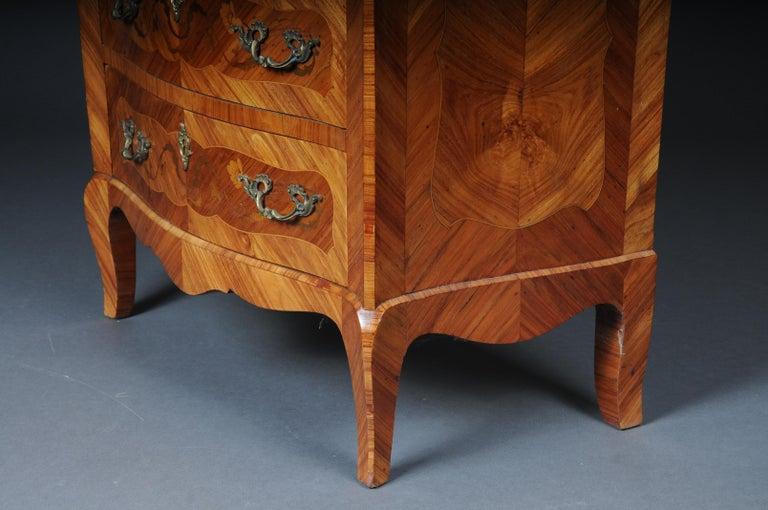 20th Century Beautiful High Chest of Drawers / Chiffoniere in Louis XV For Sale 3