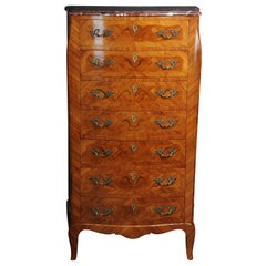 20th Century Beautiful High Chest of Drawers / Chiffoniere in Louis XV