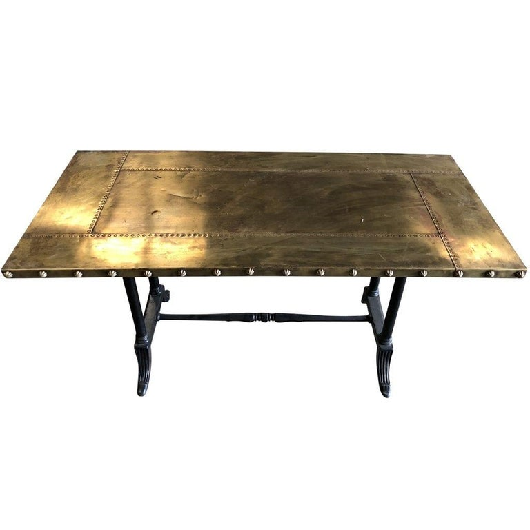 Art Deco 20th Century Belgian Copper Eugenie Table For Sale
