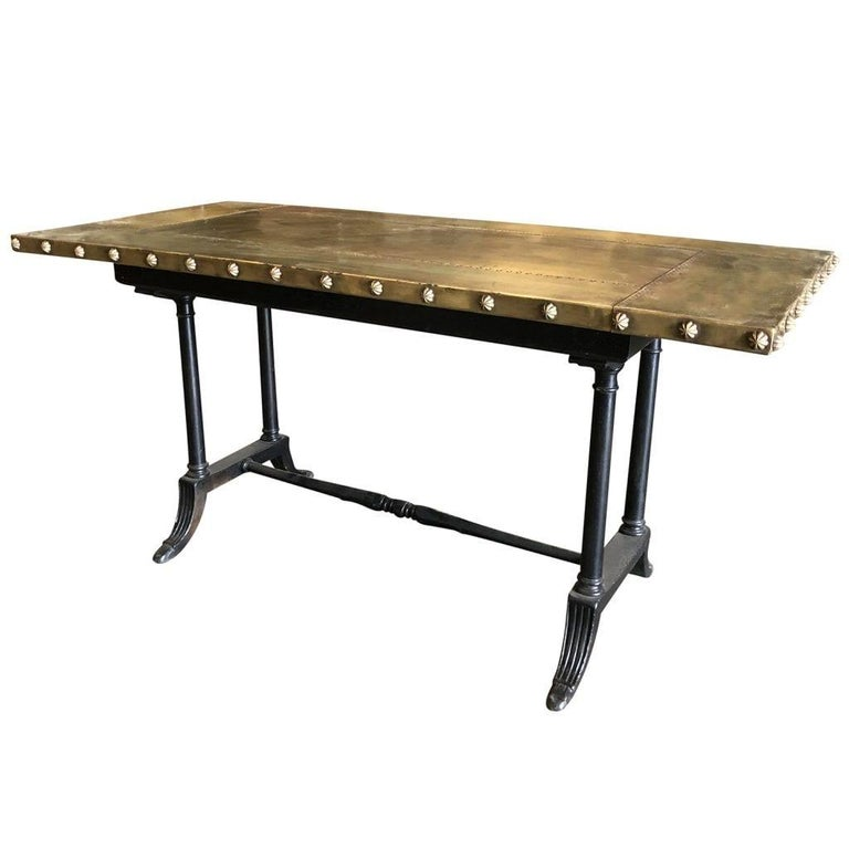 Metal 20th Century Belgian Copper Eugenie Table For Sale