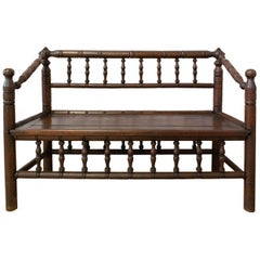 20th Century Bench in Turner's Chairs Style French Provincial Baluster Bench