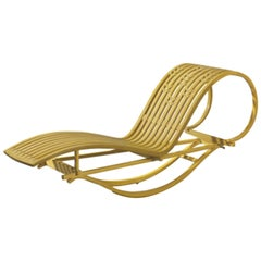 Bentwood Rocking Chaise Lounge in Mahogany by Michael Hurwitz