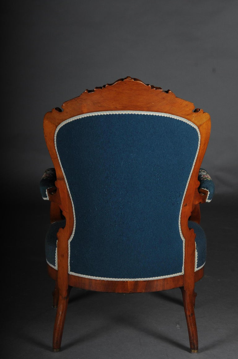 20th Century Biedermeier Armchair Louis Philippe, circa 1855 For Sale 4