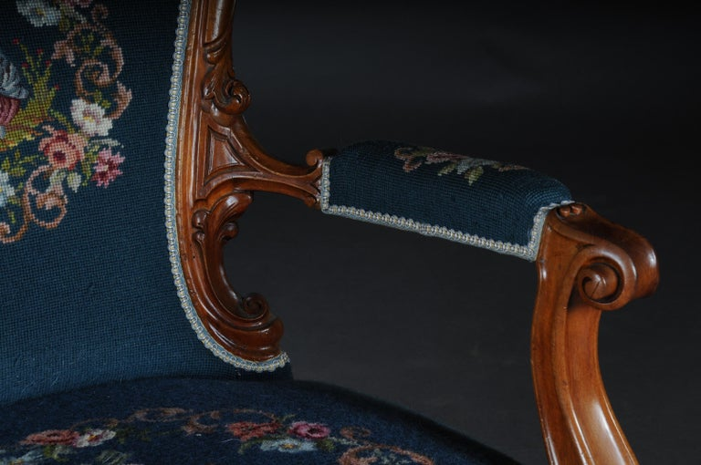 German 20th Century Biedermeier Armchair Louis Philippe, circa 1855 For Sale