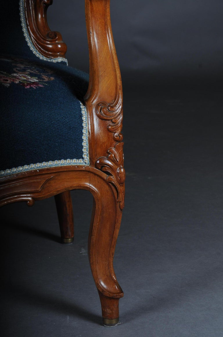 20th Century Biedermeier Armchair Louis Philippe, circa 1855 For Sale 1