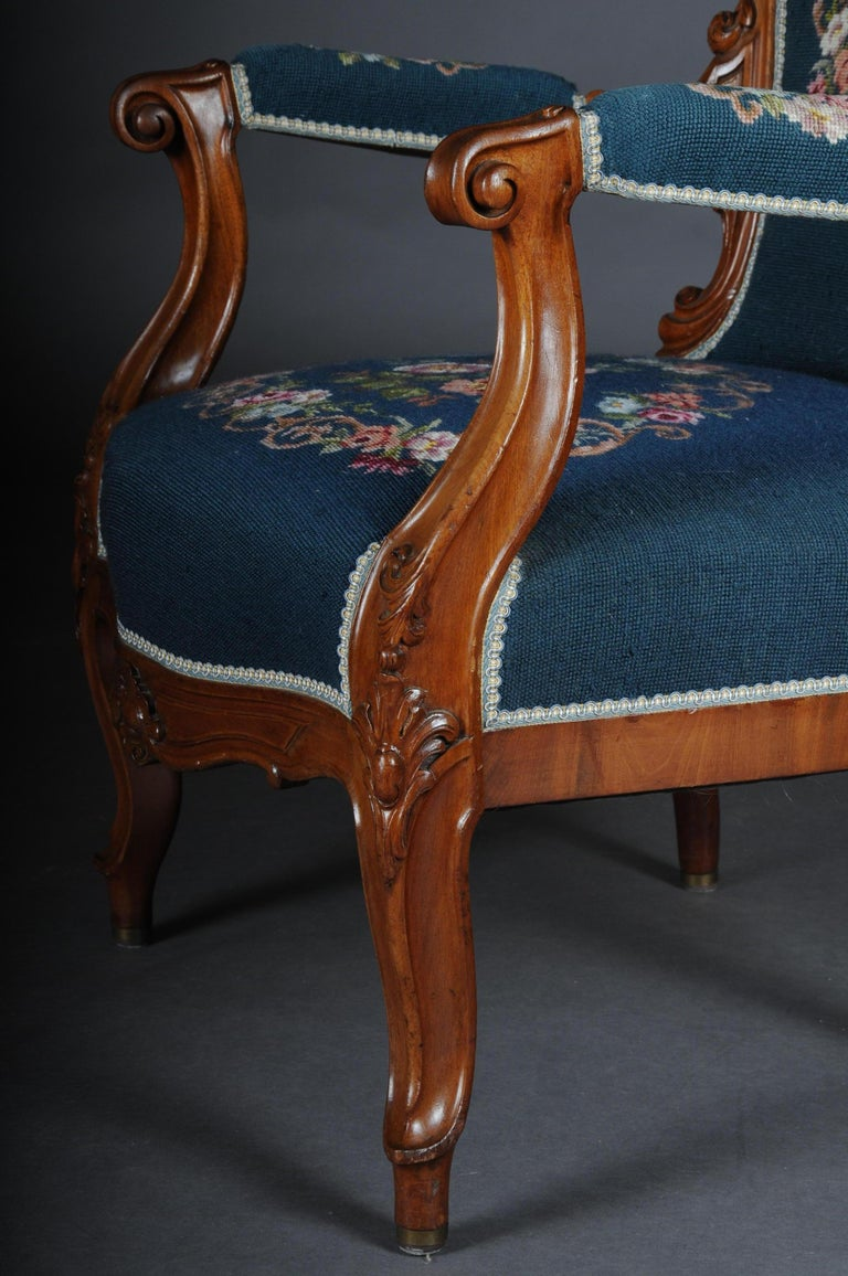20th Century Biedermeier Armchair Louis Philippe, circa 1855 For Sale 2