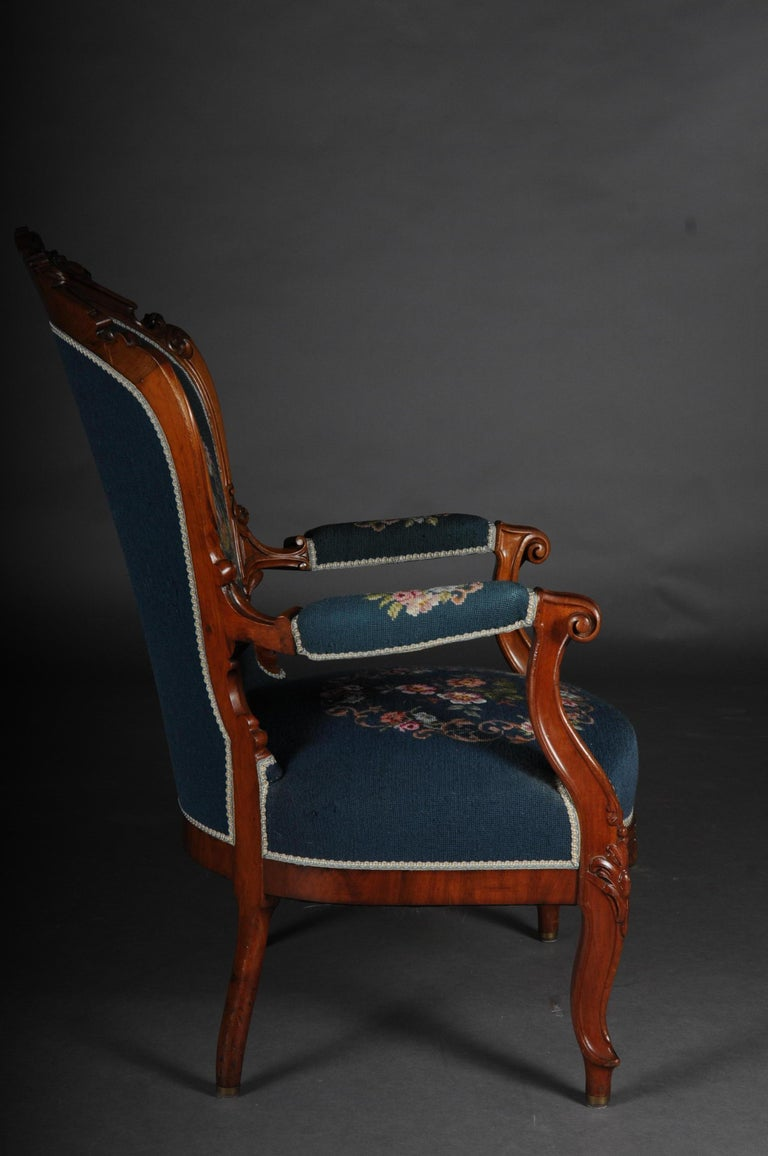 20th Century Biedermeier Armchair Louis Philippe, circa 1855 For Sale 3