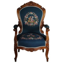 20th Century Biedermeier Armchair Louis Philippe, circa 1855