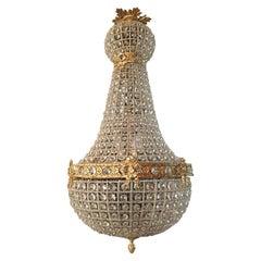20th Century Biedermeier Style Basket Candelabra Crystal