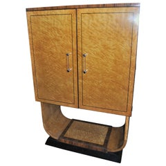 20th Century Bird's-Eye Maple and Rosewood Bar or Cabinet