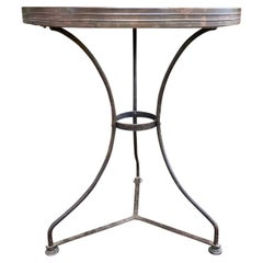 20th Century Bistro Table with Stone Top