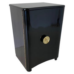 20th Century Black and Brass Italian Art Deco Cabinet
