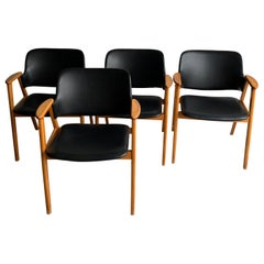 20th Century Black Birch Dining Chairs by Cees Braakman for Pastoe, 1950s