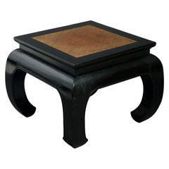 20th Century Black Lacquer Low Table