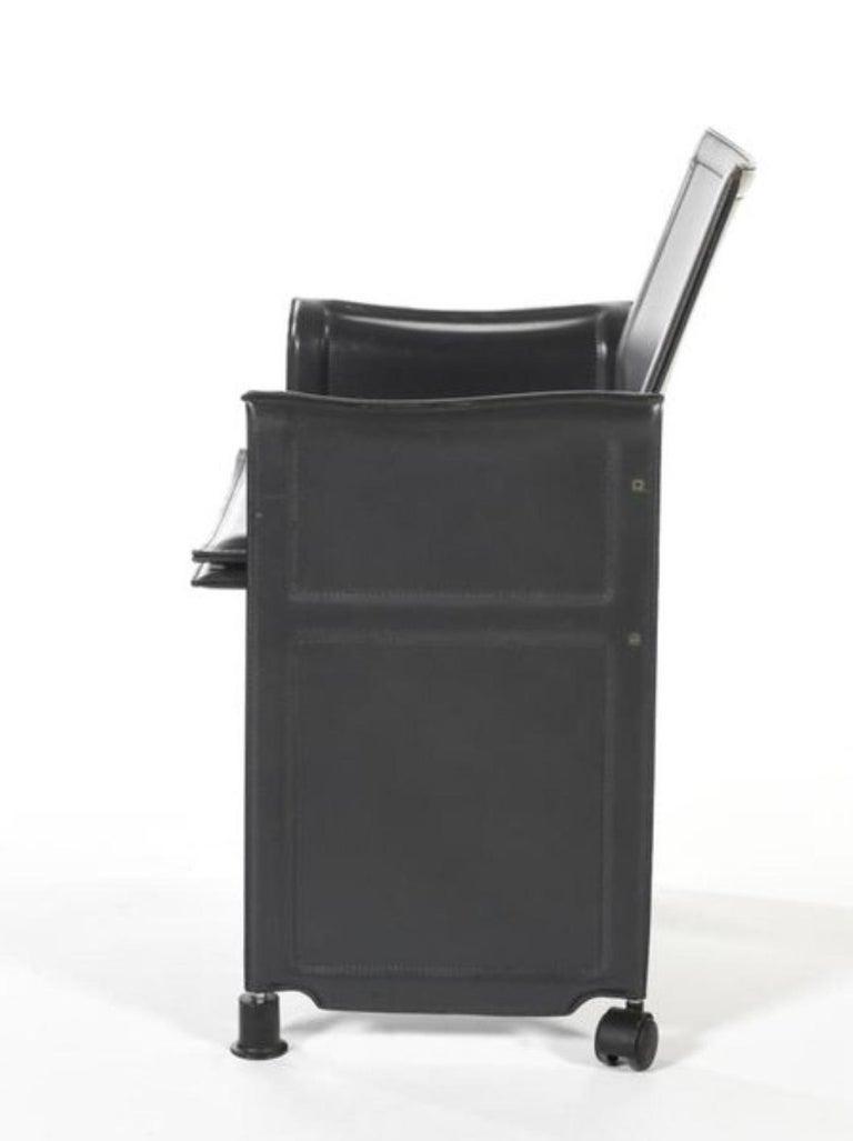 Mid-Century Modern 20th Century Black Leather Armchair
