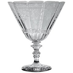 "20th Century Blown Crystal with Engravings Bowl ""Medicis"" by Baccarat, in stock"