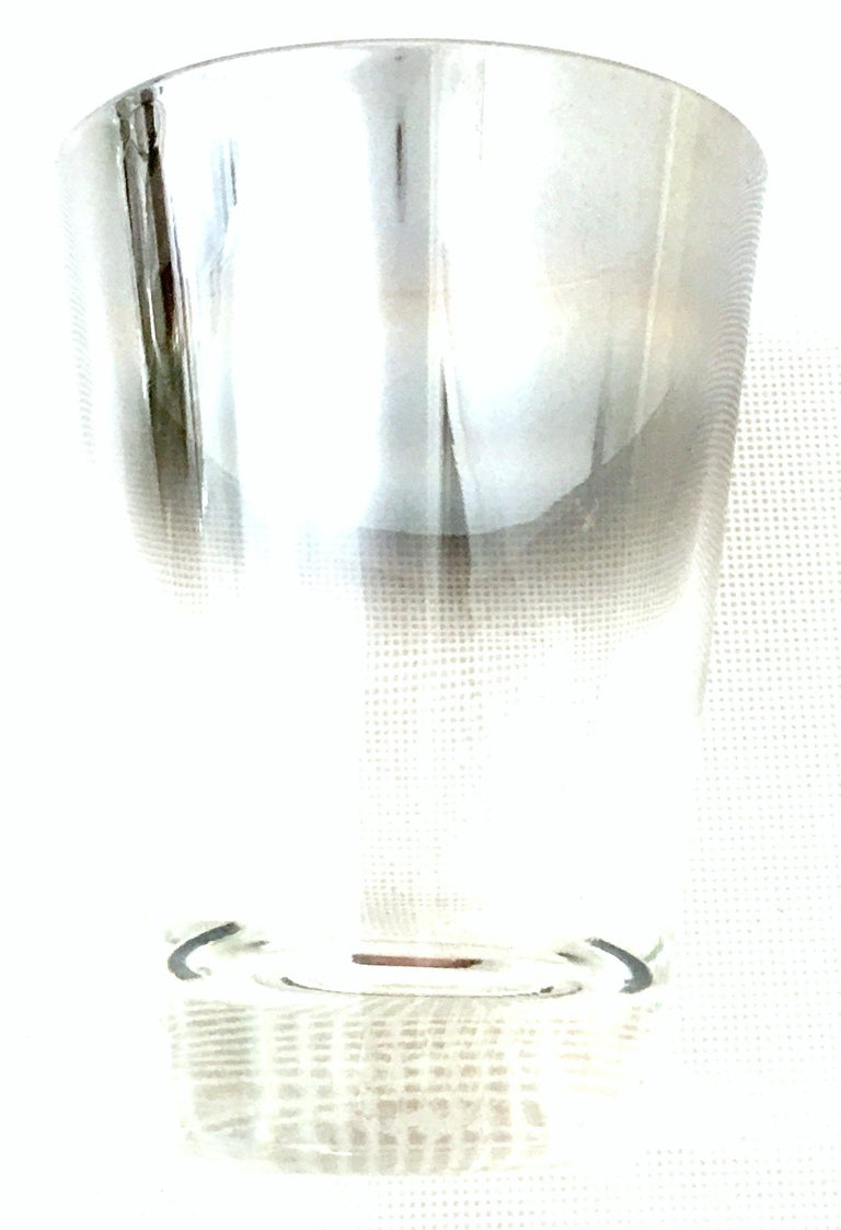 Blown Glass and Sterling Silver Drinks Set by Dorothy Thorpe, Set of 10 For Sale 1