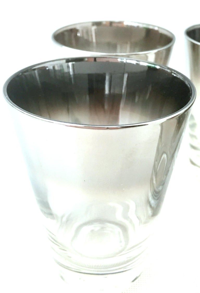 Blown Glass and Sterling Silver Drinks Set by Dorothy Thorpe, Set of 10 For Sale 2