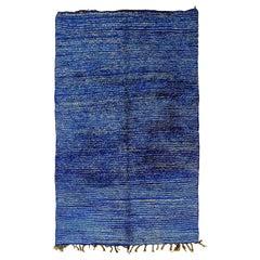 20th Century Blue and White Berber Rug, ca 1980