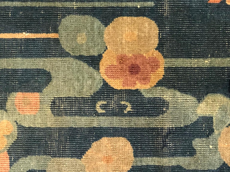 20th Century Blue and Yellow Wool Liberty Art Deco Chinese Rug, circa 1930 For Sale 10