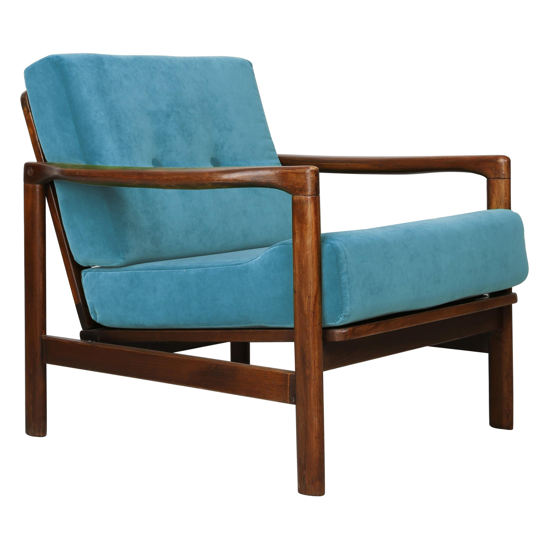 20th Century Blue Vintage Armchair, 1960s