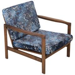 20th Century Blue Vintage Armchair, Zenon Baczyk, 1960s