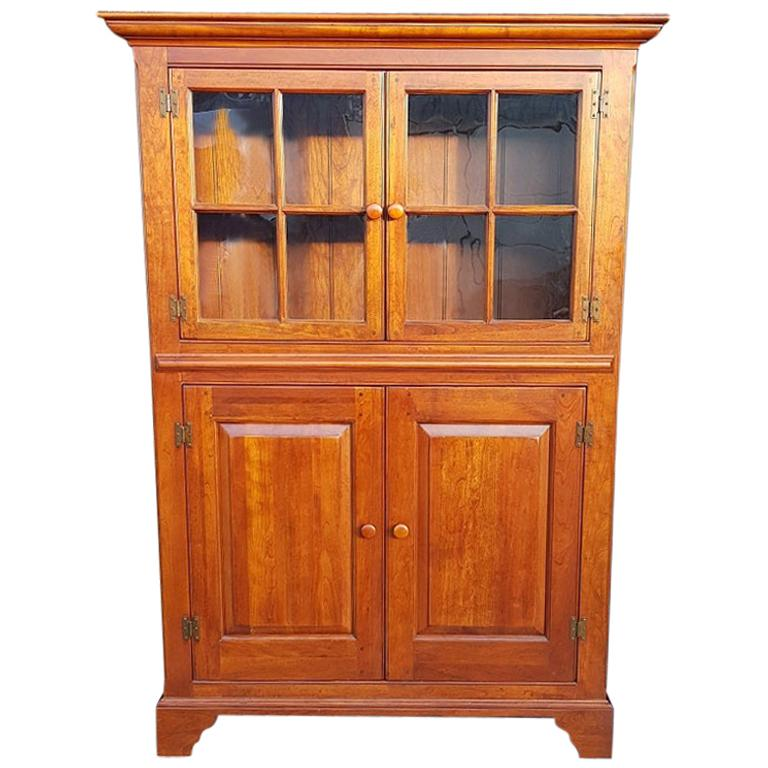 20th Century Bob Timberlake Cherry Kitchen Cupboard Made in USA For Sale