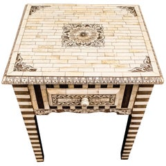 20th Century Bone and Rosewood Anglo-Indian Side Table