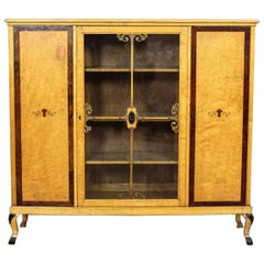 20th Century Bookcase in Birchen Veneer