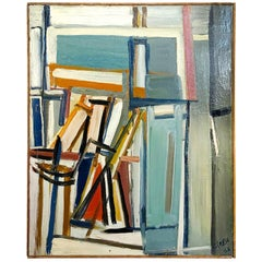 20th Century Books on Canvas, French Painting by Daniel Clesse
