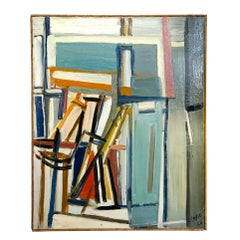 20th Century Books on Canvas Painting by Daniel Clesse