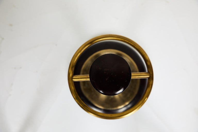 20th Century Brass and Mahogany Umbrella Stand For Sale 4