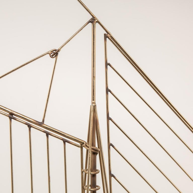 20th Century Brass Galleon Ship by Curtis Freiler & Jerry Fels, 1970s For Sale 7