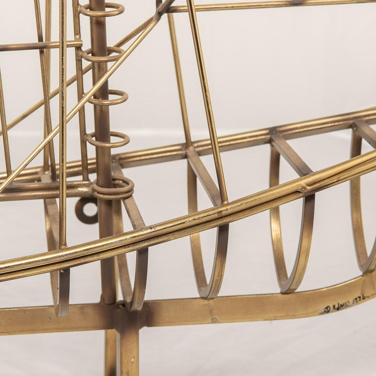 20th Century Brass Galleon Ship by Curtis Freiler & Jerry Fels, 1970s For Sale 8