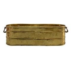 20th Century Brass Log Bin