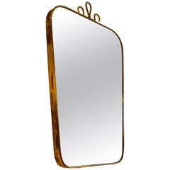 20th Century Brass Mirror in the Style of Gio Ponti