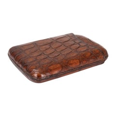 20th Century British Crocodile Leather Cigar Case, c.1930