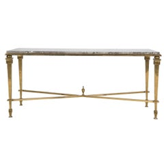 20th Century Bronze and Marble Coffee Table