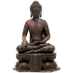 20th Century Bronze Buddha Sculpture