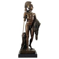 20th Century Bronze Figure of a Classical Greek Warrior
