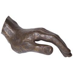 20th Century Bronze Hand