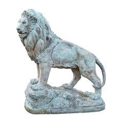 20th Century Bronze Lion Sculpture