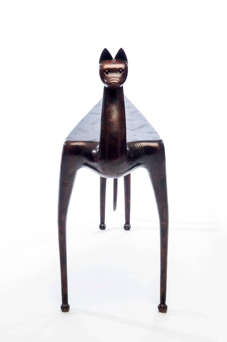 20th Century Bronze Lynx Table by Judy McKie For Sale 4