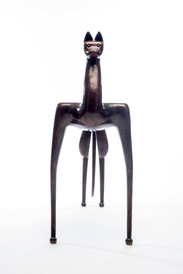 20th Century Bronze Lynx Table by Judy McKie For Sale 3