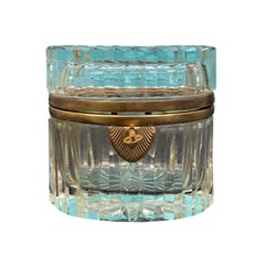 20th Century Bronze Mounted Crystal Box in the Style of Baccarat