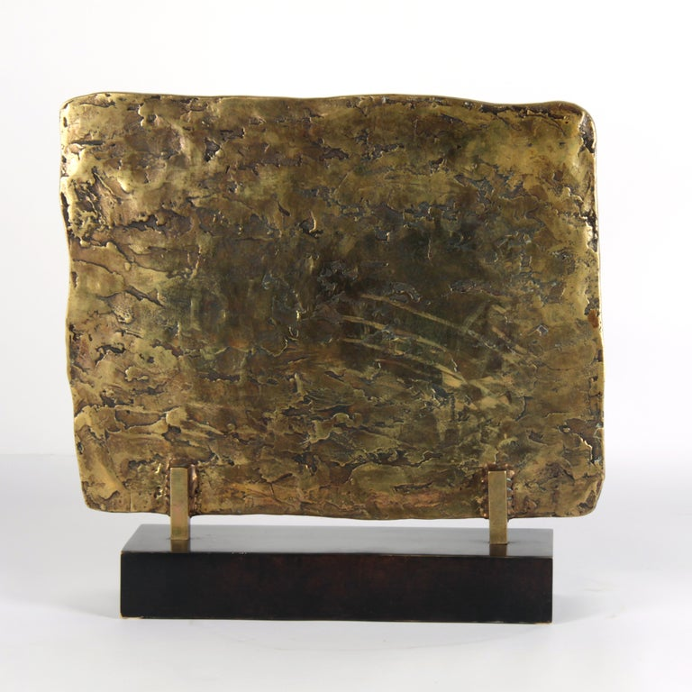 French 20th Century Bronze Plaquette Signed by Georges Braque For Sale