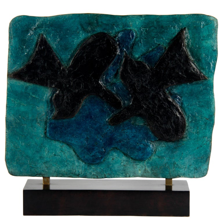 20th Century Bronze Plaquette Signed by Georges Braque For Sale