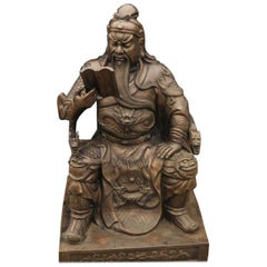 20th Century Bronze Sculpture of a Chinese Warrior